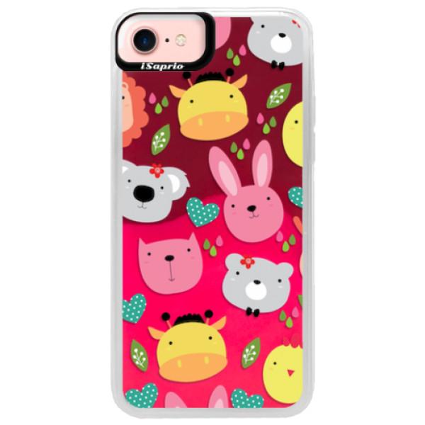 Neonové pouzdro Pink iSaprio - Animals 01 - iPhone 7