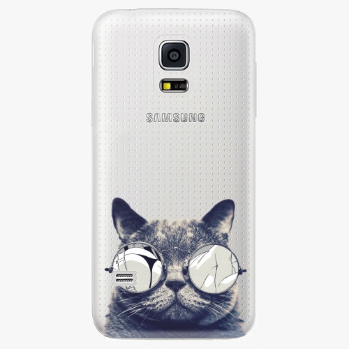 Plastový kryt iSaprio - Crazy Cat 01 - Samsung Galaxy S5 Mini