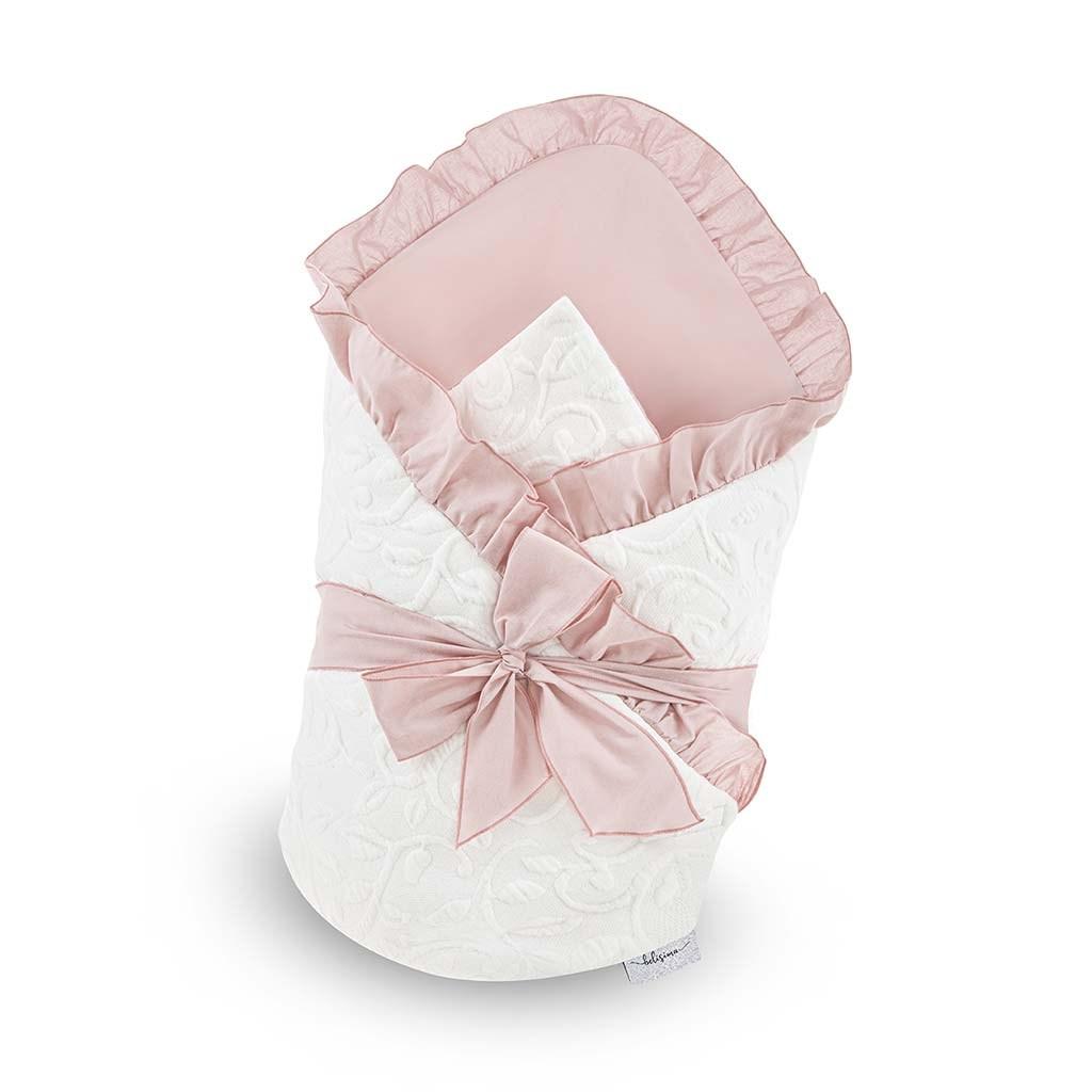 Luxusní zavinovačka s mašlí Belisima Bella - růžová