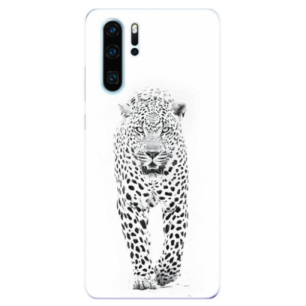 Odolné silikonové pouzdro iSaprio - White Jaguar - Huawei P30 Pro