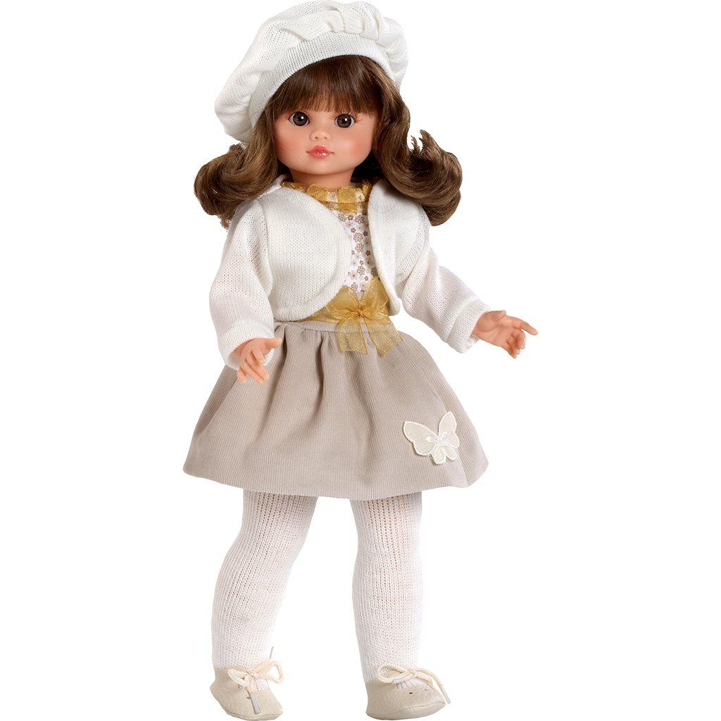 Luxusní dětská panenka-holčička Berbesa Roberta 42cm - béžová