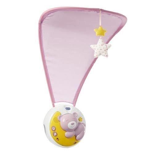 Chicco Projektor s melodií Next 2 Moon - Medvídek růžový