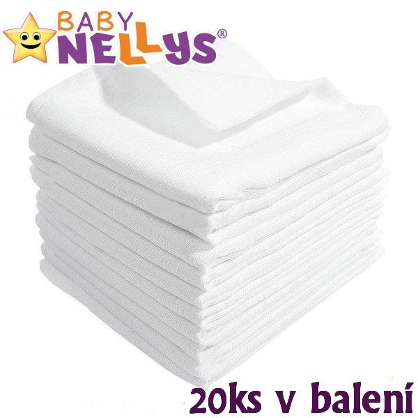 Kvalitní bavlněné pleny Baby Nellys - TETRA BASIC 60x80cm, 20ks v bal.