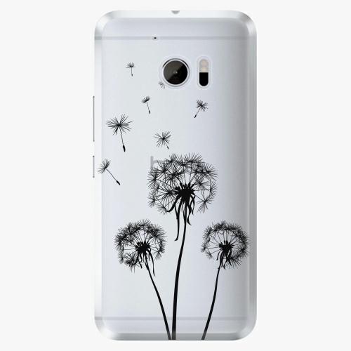 Plastový kryt iSaprio - Three Dandelions - black - HTC 10