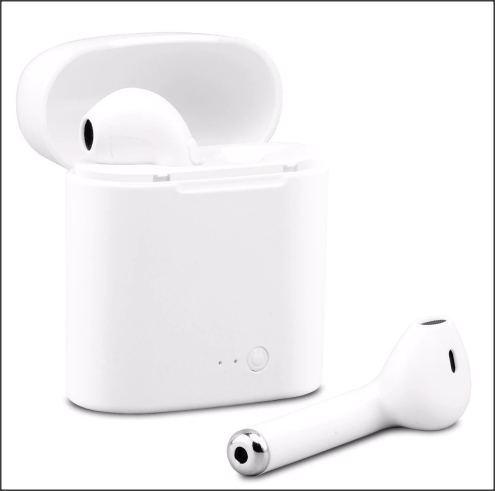 Bezdrátová bluetooth sluchátka - Bílá