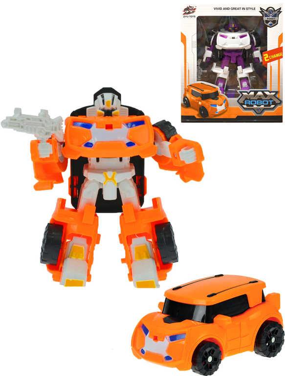 Transrobot auto / robot 12cm s transformací 2 barvy plast
