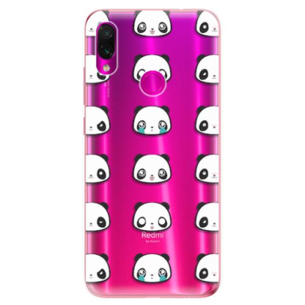 Odolné silikonové pouzdro iSaprio - Panda pattern 01 - Xiaomi Redmi Note 7