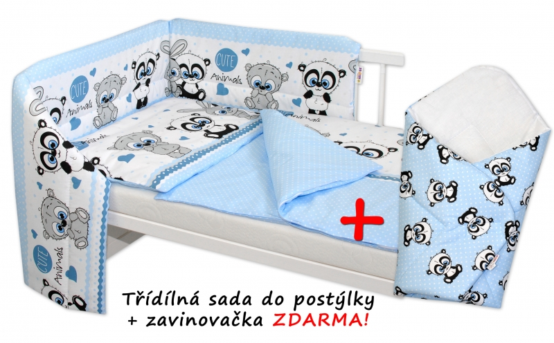 3d-sada-mantinel-s-povlecenim-zavinovacka-zdarma-cute-animals-modra-135x100cm-d19-135x100