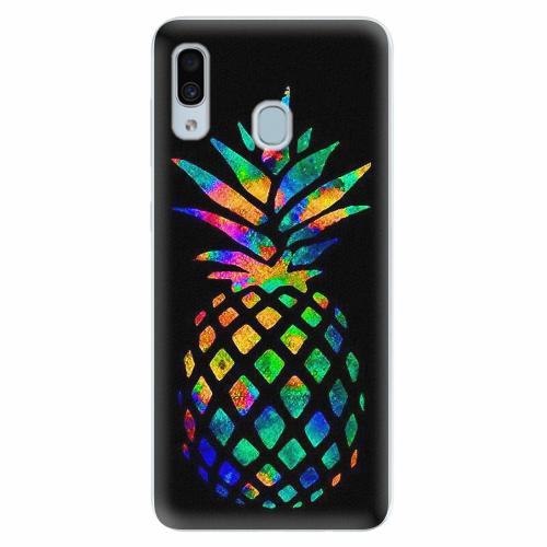Silikonové pouzdro iSaprio - Rainbow Pineapple - Samsung Galaxy A30