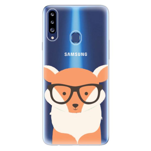 Odolné silikonové pouzdro iSaprio - Orange Fox - Samsung Galaxy A20s