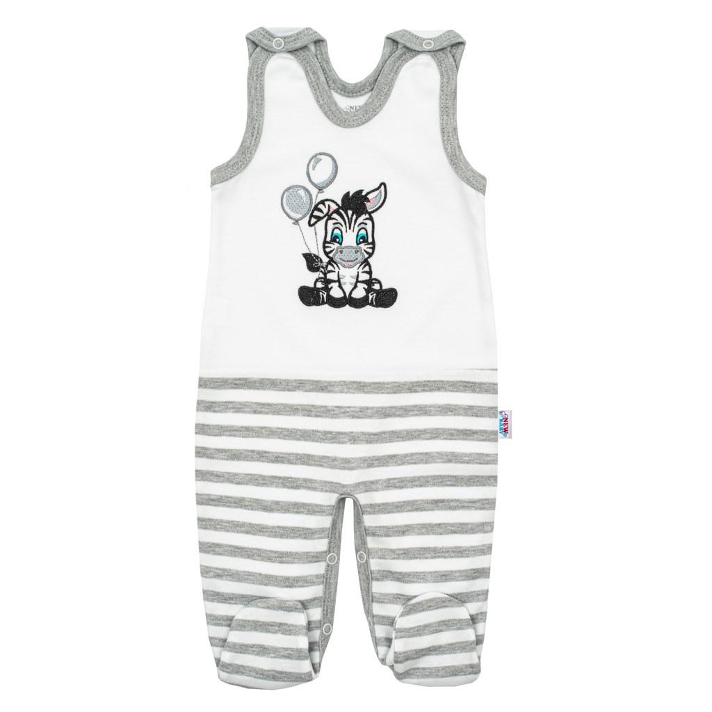 Kojenecké bavlněné dupačky New Baby Zebra exclusive - bílá/56 (0-3m)