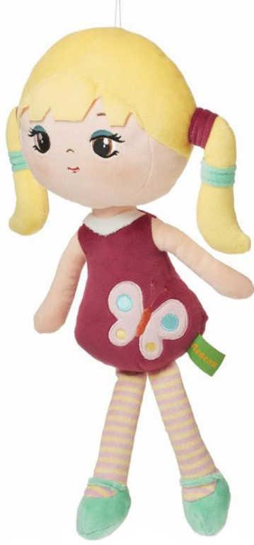 LEVENYA PLYŠ Panenka Lina 35cm textilní na mazlení do postýlky