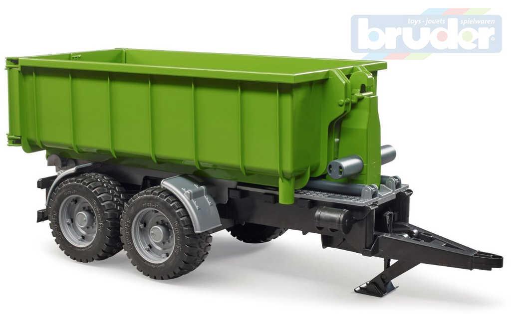 BRUDER 02035 Zelený přívěs kontejner sklápěcí doplněk k traktoru