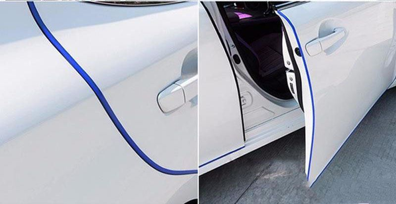 Ochranné lišty na auto 5 m - tmavě modré