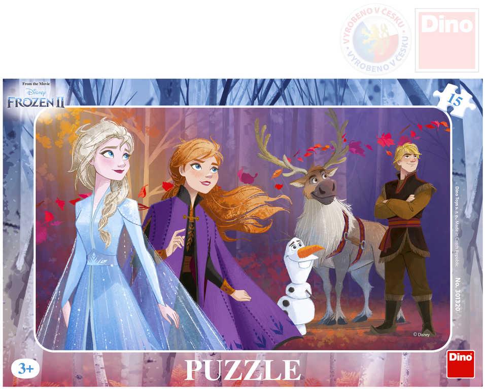 DINO Puzzle deskové 15 dílků Frozen II (Ledové Království)
