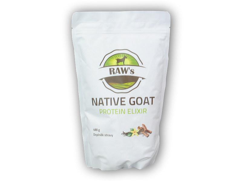 Raw s native Goat protein elixir 480g-vanilka