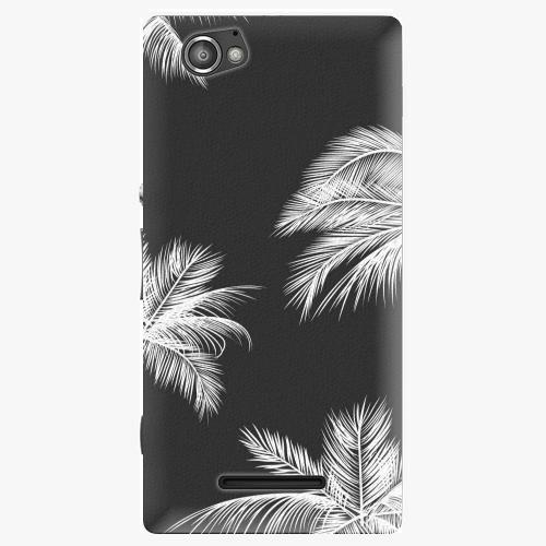 Plastový kryt iSaprio - White Palm - Sony Xperia M