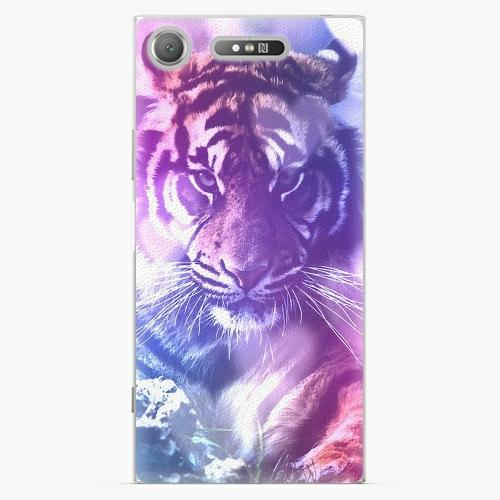 Plastový kryt iSaprio - Purple Tiger - Sony Xperia XZ1