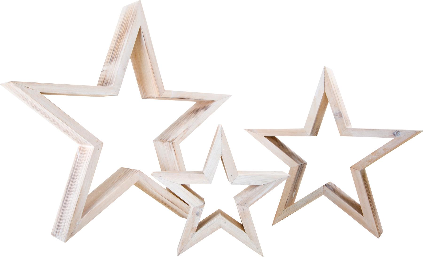 Small Foot Dřevěný dekorace hvězdy bílé