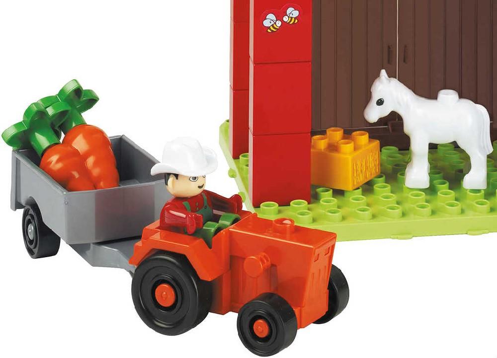 ANDRONI Unico Plus Farma malá 38 dílků baby stavebnice v kyblíku plast
