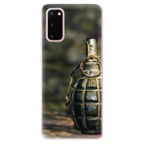 Odolné silikonové pouzdro iSaprio - Grenade - Samsung Galaxy S20