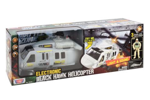 Velká helikoptéra Black Hawk