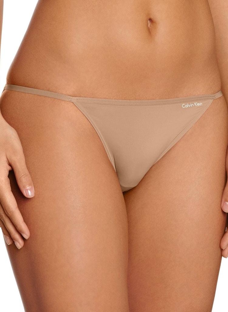 Kalhotky CALVIN KLEIN Sleek bikini nude - L