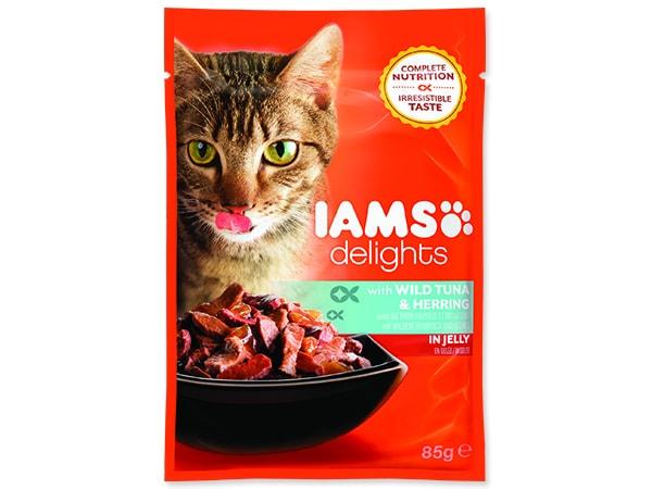 Kapsička IAMS Cat Delights Tuna & Herring in Jelly 85g