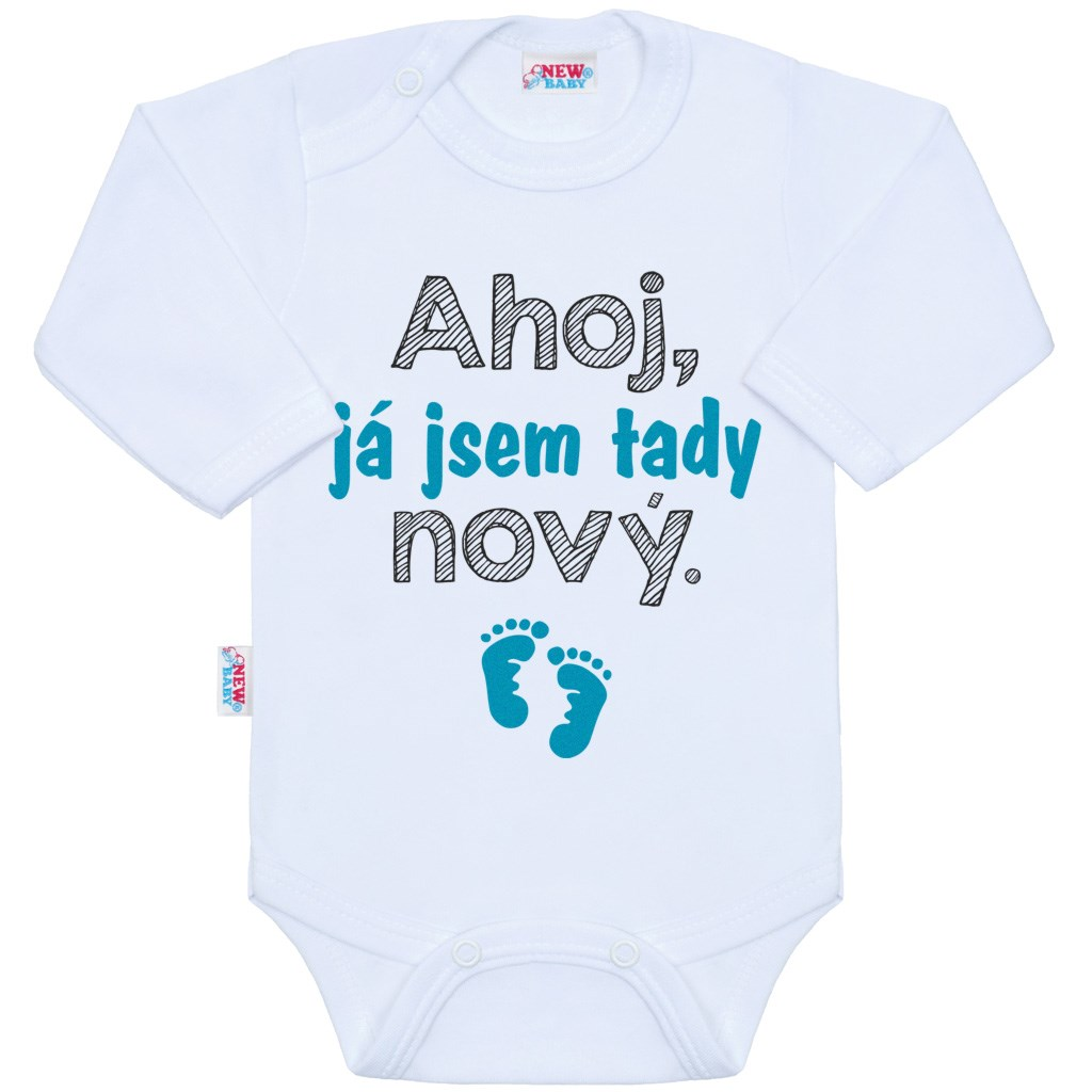 Body s potiskem New Baby Ahoj, já jsem tady