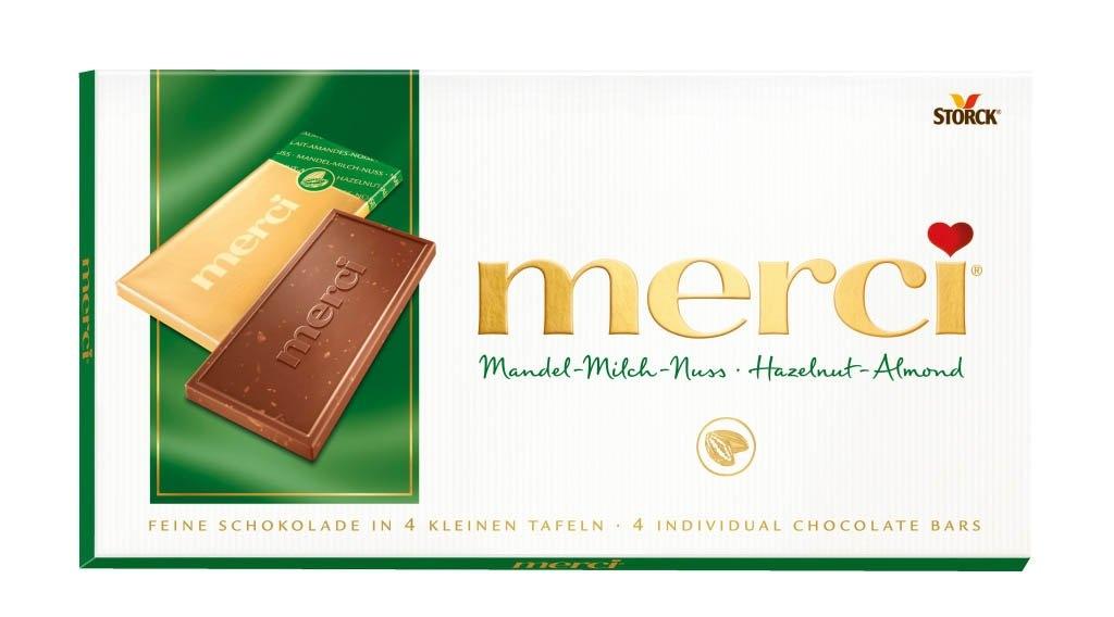 Mléčná čokoláda s lískovými ořechy a mandlemi 100 g