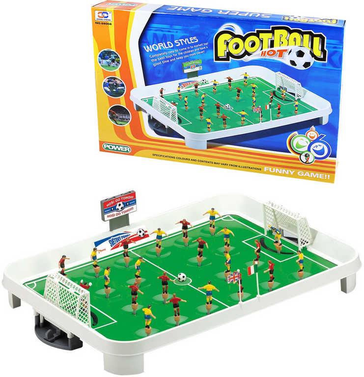 HRA Stolní fotbal velký cvrnkací kopaná v krabici plast *SPOLEČENSKÉ HRY*