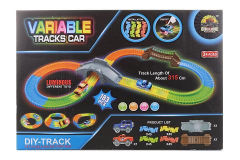 Dráha s autíčkem na baterie