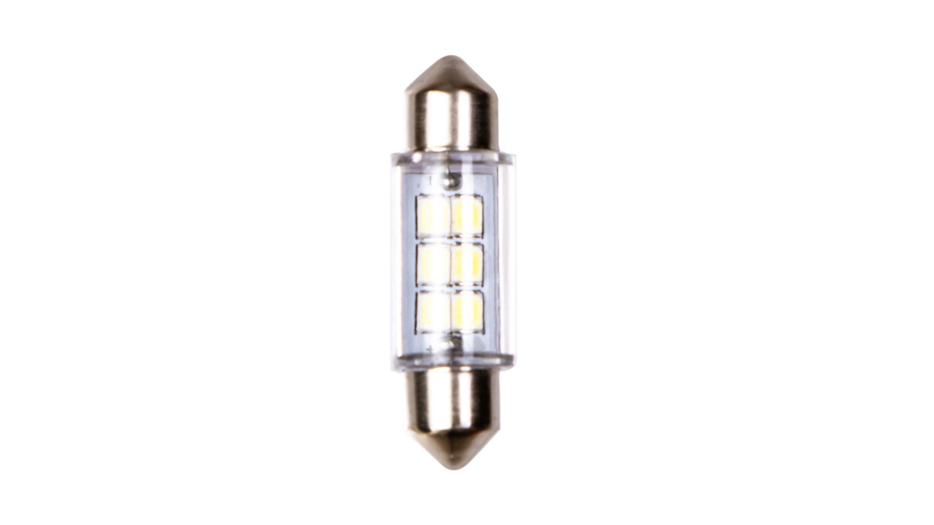 4CARS LED žárovka 6LED 12V SV8,5 36mm