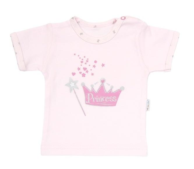 Tričko/košilka krátký rukáv Mamatti - Princezna - 80 (9-12m)