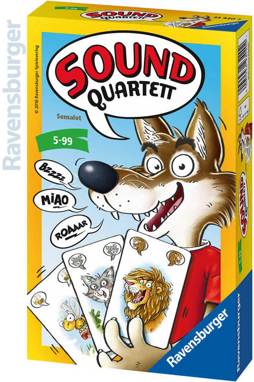 RAVENSBURGER Hra karetní Kvarteto zvukové zvířecí zvuky *SPOLEČENSKÉ HRY*