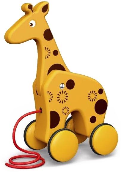 ET BAM BAM Baby žirafa tahací zvířátko na kolečkách