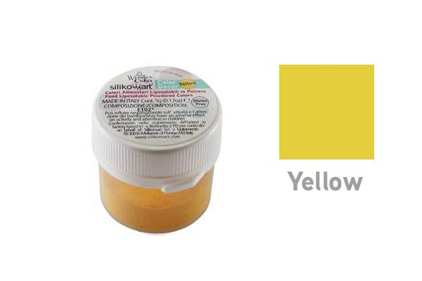 Prachová barva do tuků 5g - žlutá