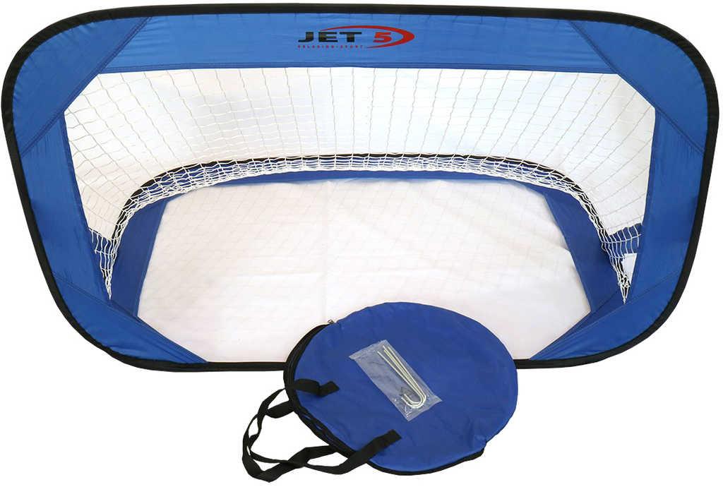 Branka fotbalová Jet 5 textilní modrá 120x80x80cm v tašce na zip