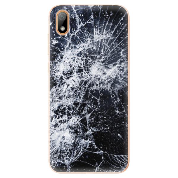 Odolné silikonové pouzdro iSaprio - Cracked - Huawei Y5 2019