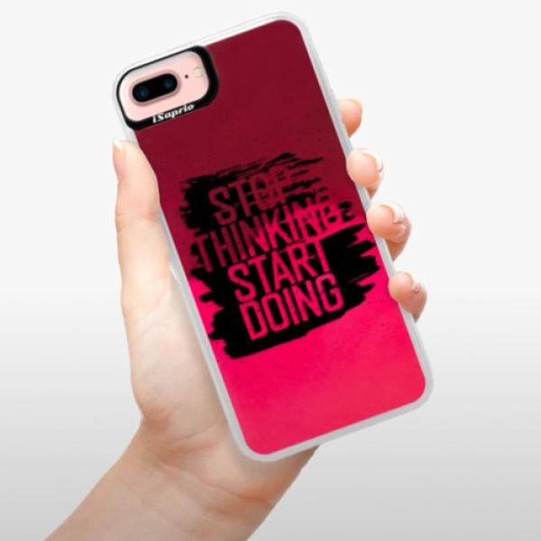 Neonové pouzdro Pink iSaprio - Start Doing - black - iPhone 7 Plus