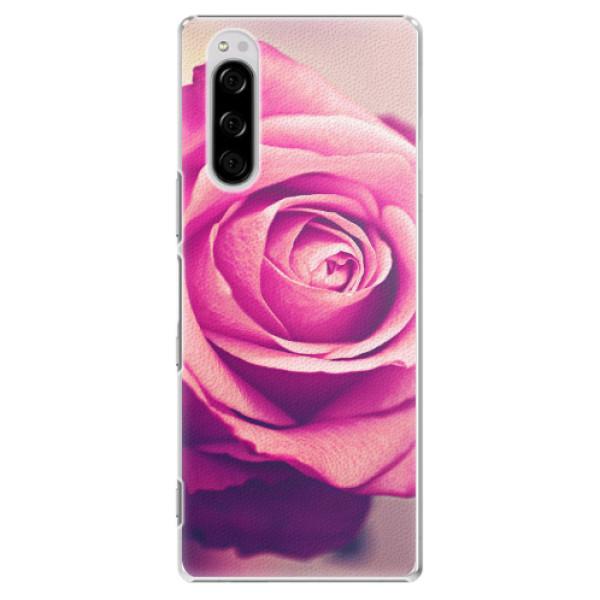 Plastové pouzdro iSaprio - Pink Rose - Sony Xperia 5