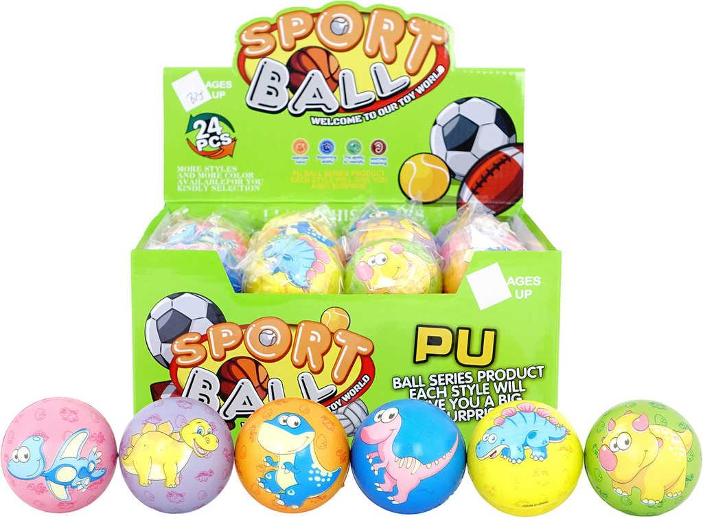 Soft míček pěnový s dinosaurem lehký balonek různé druhy