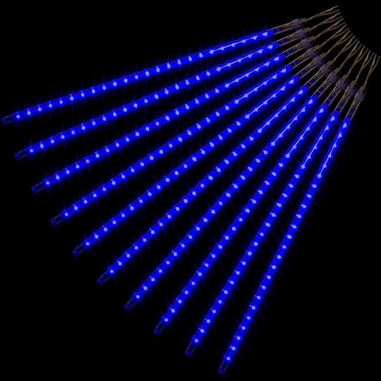 Vánoční LED osvětlení - padající sníh, 480 LED, modré