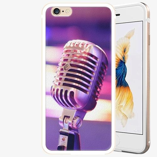 Plastový kryt iSaprio - Vintage Microphone - iPhone 6 Plus/6S Plus - Gold