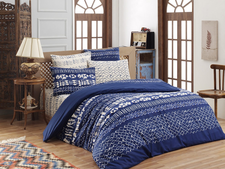 Povlečení francouzské bavlna 220x220,70x90 Laguna blue, Výběr zapínání: