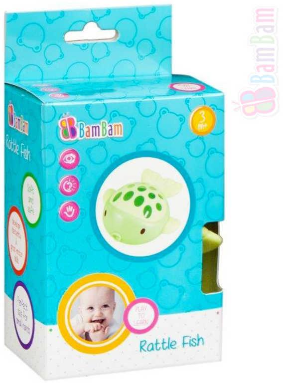BAM BAM Baby chrastítko rybka v krabici pro miminko