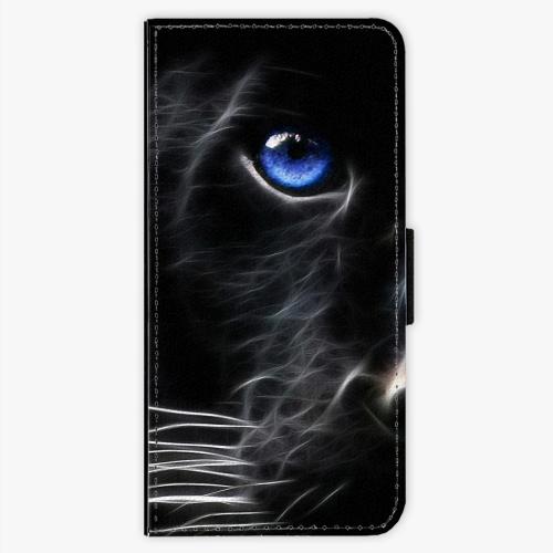 Flipové pouzdro iSaprio - Black Puma - Sony Xperia XA
