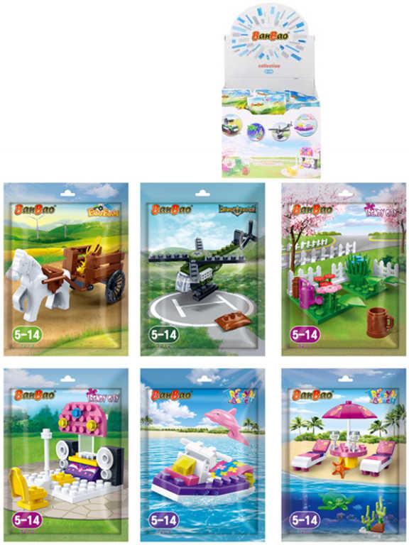 Stavebnice BanBao Gift sada kostek 12 druhů v sáčku plast