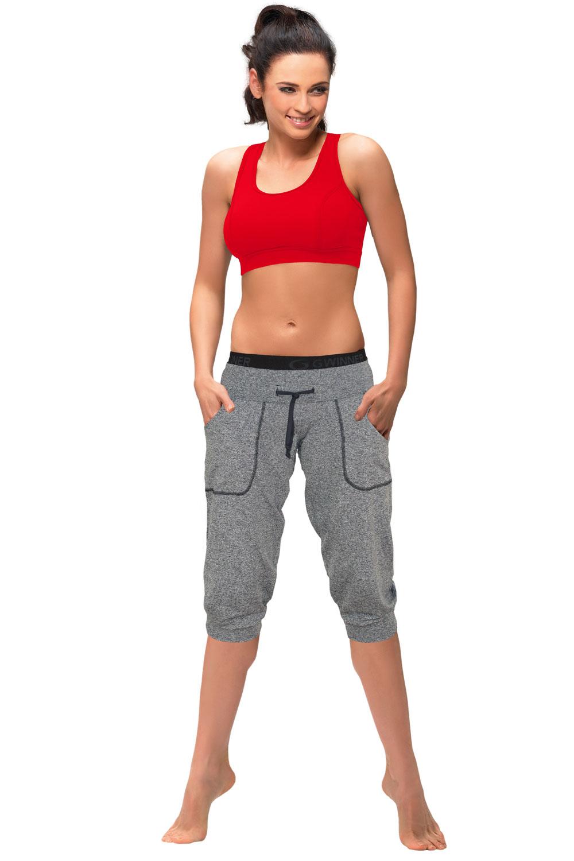 Sportovní kalhoty gWINNER Loose sport capri - Melange/S
