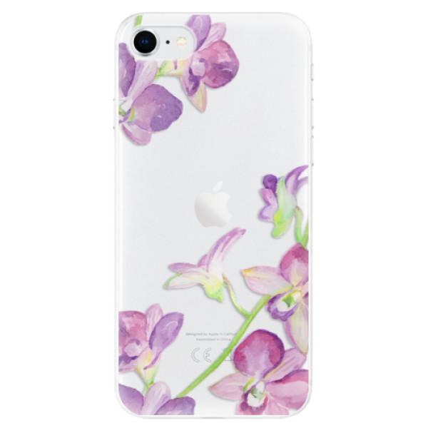 Odolné silikonové pouzdro iSaprio - Purple Orchid - iPhone SE 2020